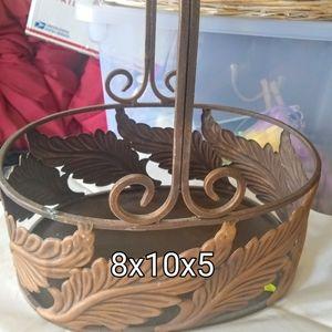 Metal decorative basket.
